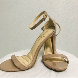 Lulus Loveliness Nude Ankle strap heel